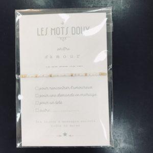 La Sélection, bijoux, bracelet Les Mots Doux